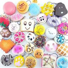 30Pcs Popular Jumbo Medium Mini Squishy Soft Panda/Bread/Cake/Buns Phone Straps