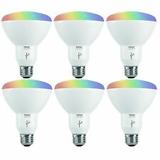 Sylvania Osram Lightify Smart Home 65W BR30 White/Color LED Light Bulb (6 Pack)