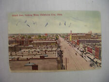 VINTAGE POSTCARD TOWN VIEW ON GRAND AVE IN OKLAHOMA CITY OKLAHOMA 1909