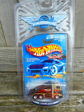 HOT WHEELS GOLD & BLACK RAMP/TOW TRUCK 2001 FINAL RUN SERIES W/REAL RIDERS 4/12