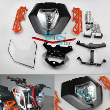 Headlight Cover Mask Lights Assembly sticker Bracket For KTM 125 200 390 Duke-01