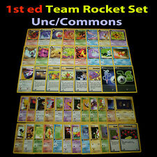 NM 1st edition COMPLETE Pokemon TEAM ROCKET Card Uncommon/Common Set Trainer TCG