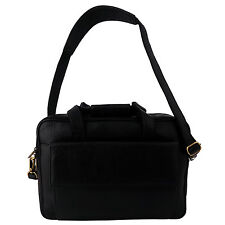ZINT Men's Genuine Leather Messenger Bag Black Briefcase Satchel Gift for Him