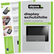 2x Lenovo IdeaPad S6000 Schutzfolie matt Displayschutzfolie Folie dipos