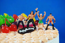 WWE MICRO AGGRESSION Jakks Wrestling Figure Set 4 Cake Topper A596_B