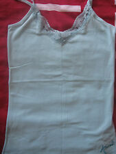 NEW WOMEN'S ANIMAL AQUA SLEEVELESS VEST TOP / CAMI T SHIRT TOP SIZE UK 10 ANIMAL
