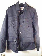 COUNTRY ROAD Jacket Charcoal Black Cotton Nylon Zip Button Mens Size Medium