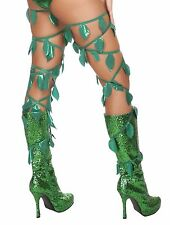 Adult Woman Costume Leaf Thigh Wraps One Size Green