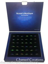 USA Wholesale Box Lot 36 Opal Essence Oceans Mystique Mood Color Changing Rings