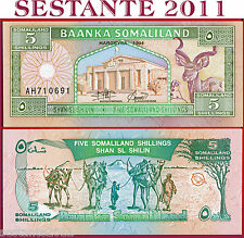 SOMALILAND  -  5 SHILLINGS 1994  -  P 1  -  FDS / UNC