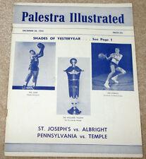 1955 Palestra Illustraded Dec.20th, Program V.Good Condition