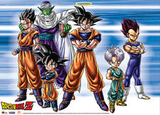 Dragon Ball Z Warriors of Z Fabric Poster Wall Art GE77529 *NEW*