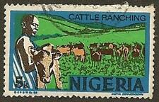 Nigeria Scott# 294, Cattle Ranching, Series on Industries, 5k, Used, 1974