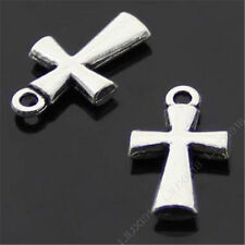 15pc Retro Tibetan Silver Cross Pendant Charms Beads Dangle Crafts 12*20mm S347T