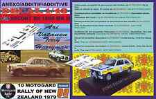 ANEXO DECAL 1/43 FORD ESCORT RS 1800 MK II ROTHMANS A.VATANEN R NEW ZEALAND (02)