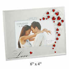 Photo Frame With Red Hearts Romantic Love Gift Ideas For Her Him For Birthdays