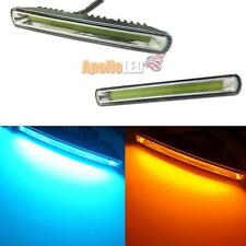 Universal Ice Blue /Amber Dual-Color Switchback COB LED Daytime DRL Turn Lights