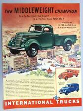 Orignal 1937 International Ad Featuring the Model D-15 One Ton Model Pickup