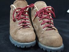 VASQUE Suede Leather Hiking Mountaineering Boots 6C USA Red Wing Vibram