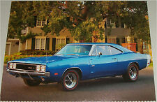 1969 Dodge Hemi Charger 500 car print (blue & white)