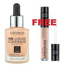 CATRICE Liquid Coverage Foundation 030 24hHD +FREE Camouflage High Concealer 010