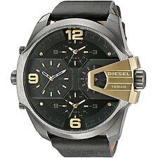Diesel Original Men's Uber Chief Black Leather Strap Watch 55mm DZ7377