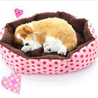 1X Lovely Pet Dog Puppy Cat Cute Soft Warm Bed House Plush Nest Mat Pad US45
