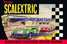 Scalextric 1962 Catalogue Cover Large Size Poster Advert Sign Leaflet fantastic!