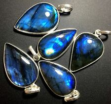 5 LABRADORITE 925 STERLING SILVER OVERLAY BABY PENDANT WHOLESALE LOT 2483