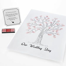 Ginger Ray White Finger Print Tree Canvas Guest Book, Unit quantity 1