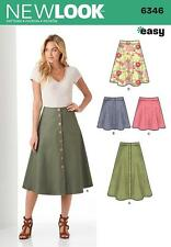 NEW LOOK SEWING PATTERN Misses' EASY SKIRTS IN 3 LENGTH SIZE 8 - 20 6346