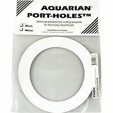 "Aquarian PHWHT 5"" Bass Drum Adhesive Microphone Port Hole surround  White"