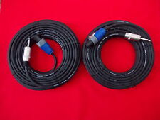 2 x 20mtr GENUINE NEUTRIK (NL2FX) SPEAKON to JACK PRO SPEAKER LEADS