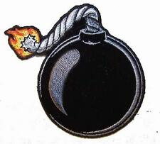 BOMB BALL PATCH P7412 NEW jacket patches BIKER EMBROIDERIED heat iron on SEWN