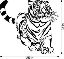 Large Tiger sitting  wall vinyl decal