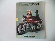 advertising Pubblicità 1975 MOTO DUCATI 860