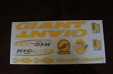Giant Stickers XTC SE1 Yellow & Silver.