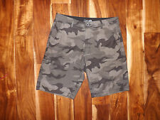 NEW Mens DA HUI Hawaiian Hybrid Boardshorts Swimshorts Trunks Green Camo 30