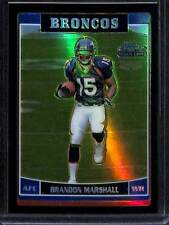 2006 Topps Chrome Football Black Refractor #263 Brandon Marshall No 12 of 199