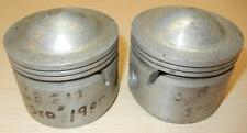 1958-ONLY Matchless G12 650cc NOS 72mm STD Hepolite #15242 pair BARE pistons -90