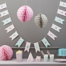 CHEVRON Happy Birthday Carta Bunting-Venue Decorazione / pastelli