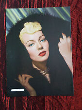"""LANA TURNER - FILM STAR - 1 PAGE PICTURE -"""" CLIPPING / CUTTING"""" - #5"""
