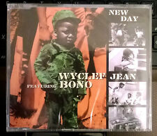 WYCLEF JEAN Featuring U2 BONO CD's NEW DAY  3 TRACKS