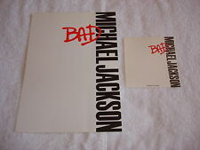 Michael Jackson Bad Stationery Original 87 Official Promo Paper Japan MEGA RARE
