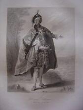 Grande gravure Portrait de la Reine Ulrique Eléonore de Suède 1741