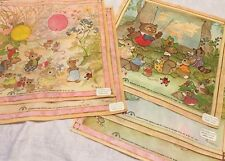 Vtg '70's Era Childs Hankie Drawing Board Nakanishi A Noel Lot Of 5 W/tagsNOS