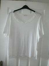 ladies white neck detail top from Marks & Spencers size 22