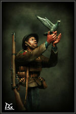 DG Artwork British Army soldier + War Pigeon WW1 1/9th Bust Unpainted kit