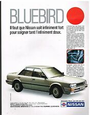 Publicité Advertising 1987 Nissan Bluebird