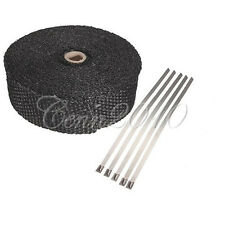 10M MOTORCYCLE EXHAUST PIPE WRAP FIBERGLASS BANDAGE INSULATION KIT & 5 STRIPS